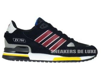 anchura Leo un libro Alfabeto  G96725 Adidas ZX 750 Originals Black/Cardinal/White G96725 adidas Originals  \ mens