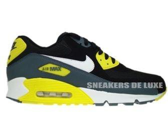 1326e4d74e51 537384-017 Nike Air Max 90 Essential Black White-Sonic Yellow-Armory ...