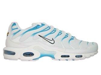 852630 105 Nike Air Max Plus Tn 1 White White Lt Blue Fury 852630 105 Nike Mens