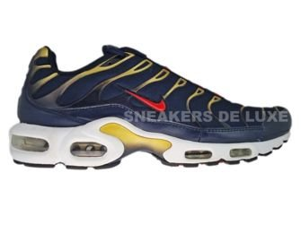 the latest 9da11 96329 Nike Air Max Plus TN 1 Obsidian/Sport Red-Metallic Gold ...