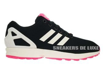 B34060 Adidas Zx Flux Petrol Ink Ftwr White Solar Pink B34060 Adidas Originals Womens