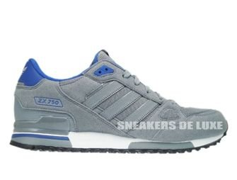 Q21311 Adidas ZX 750 Originals Tech Grey Tech Grey Color Royal ... 4253e1e72
